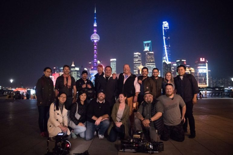 Filming in China