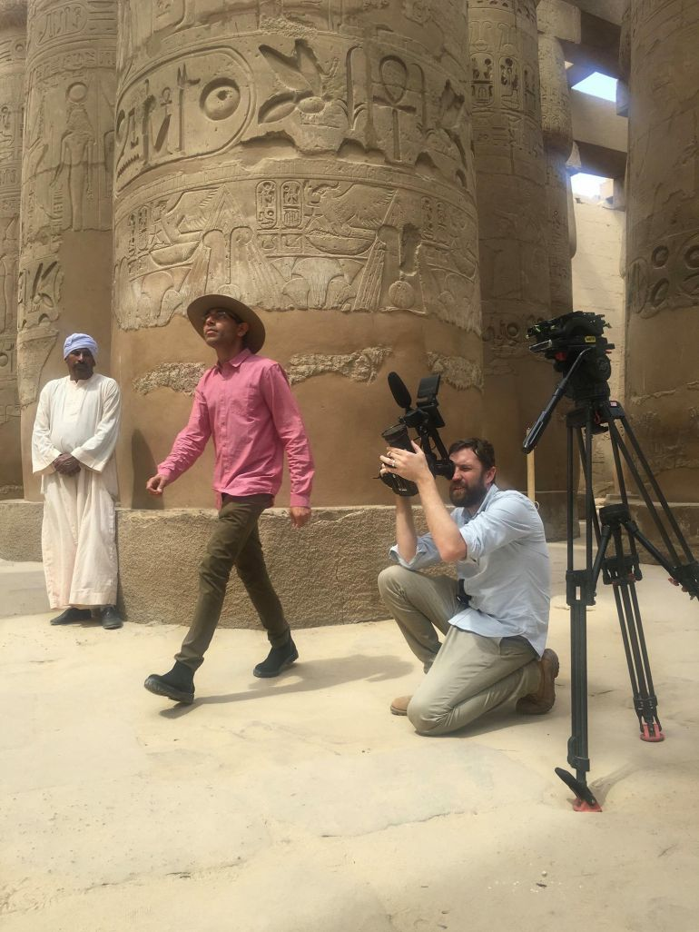 Filming in Egypt